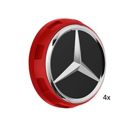 4x Original Mercedes-Benz Nabendeckel Radnabendeckel rot A00040009003594