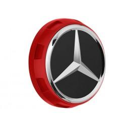 1x Original Mercedes-Benz Nabendeckel Radnabendeckel rot A00040009003594