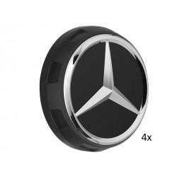 4x Orig. Mercedes-Benz Nabendeckel Radnabendeckel schwarz matt A00040009009283