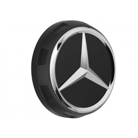 1x Orig. Mercedes-Benz Nabendeckel Radnabendeckel schwarz matt A00040009009283