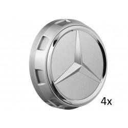 4x Original Mercedes-Benz Nabendeckel Radnabendeckel grau A00040009009790