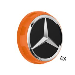4x Original Mercedes-Benz Nabendeckel Radnabendeckel orange A00040009002232