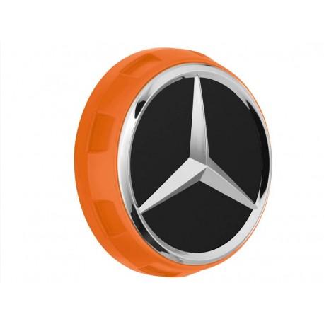 1x Original Mercedes-Benz Nabendeckel Radnabendeckel orange A00040009002232