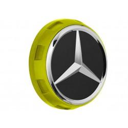 1x Original Mercedes-Benz Nabendeckel Radnabendeckel gelb A00040009001127
