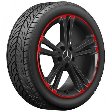 Orig. Mercedes Felgensatz 18 Zoll schwarz/rot A-Klasse 177 B-Klasse 247 CLA 118