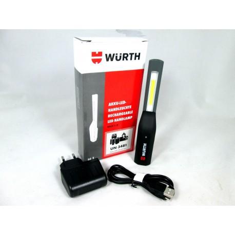 Würth Akku-LED-Handleuchte Werkstattlampe WLH1.2 100-320 Lum 1000 mAh + Magnet