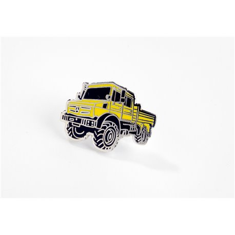 Original Mercedes-Benz Unimog Pin gelb Anstecknadel Ansteckpin