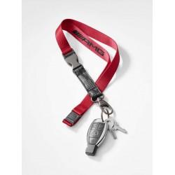 AMG Schlusselband rot / schwarz, Nylon / Metall / Kunststoff