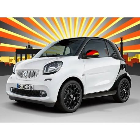 smart Original Spiegelkappen in Deutschland Fanfarben A4538104400 EM 2016 Limitiert