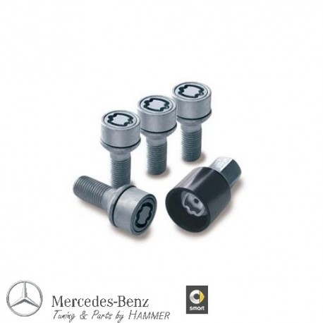 Original Mercedes-Benz Radsicherungssatz - Radsicherung M14 x 1,5 x 27 silber