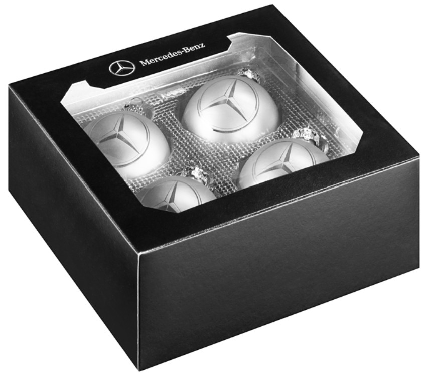 Genuine mercedes benz christmas balls stars glass for Mercedes benz christmas ornament