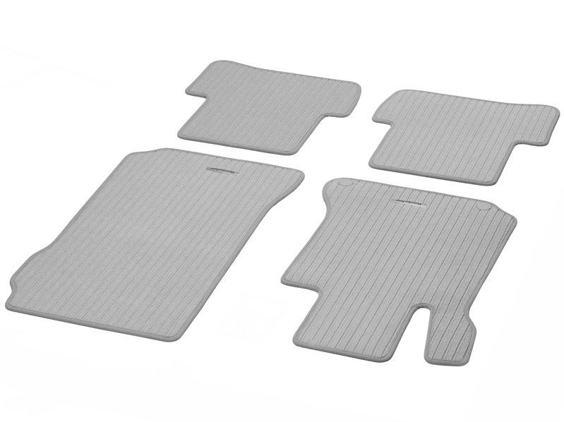 Rips grau Fußmatten Mercedes W124 Original Qualität Ripsmatten 4-teilig