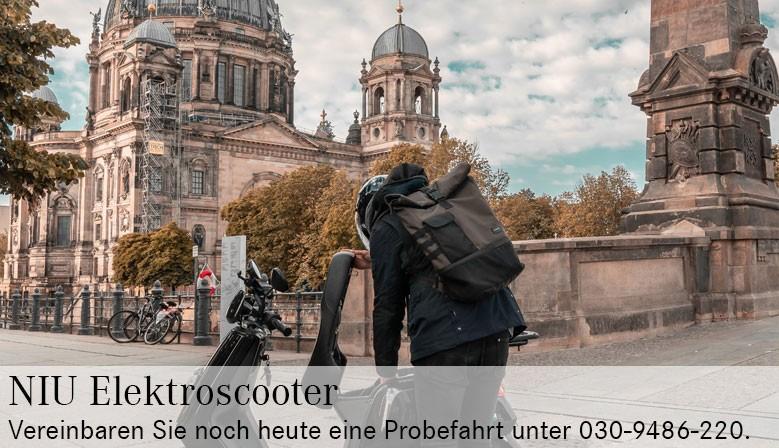 Elektroroller in Berlin Probefahren